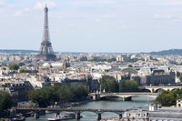 Seine and_Eiffel_Tower_from Tour Saint Jacques 2013-08